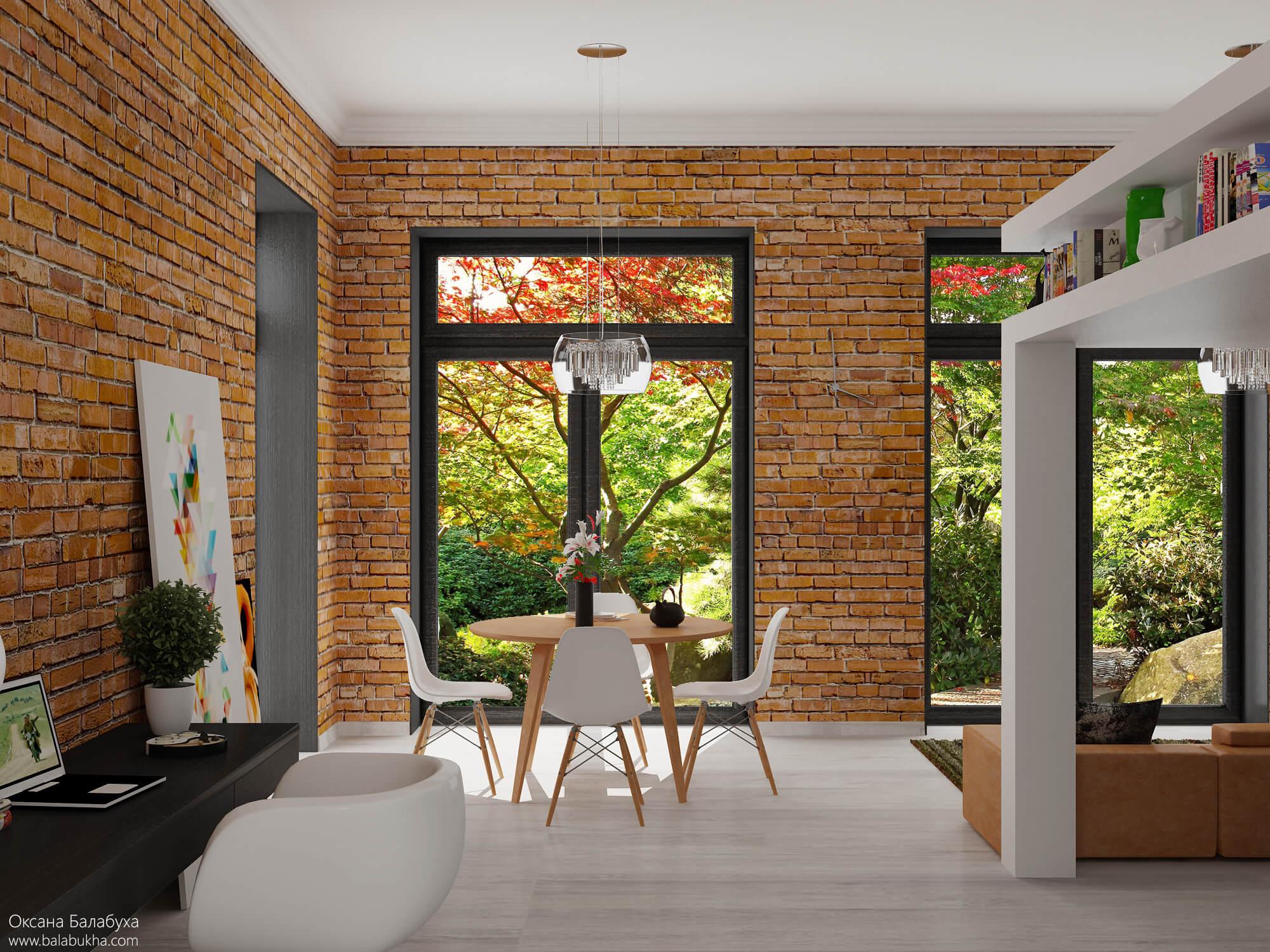 дизайн угловой гостиной с двумя окнами