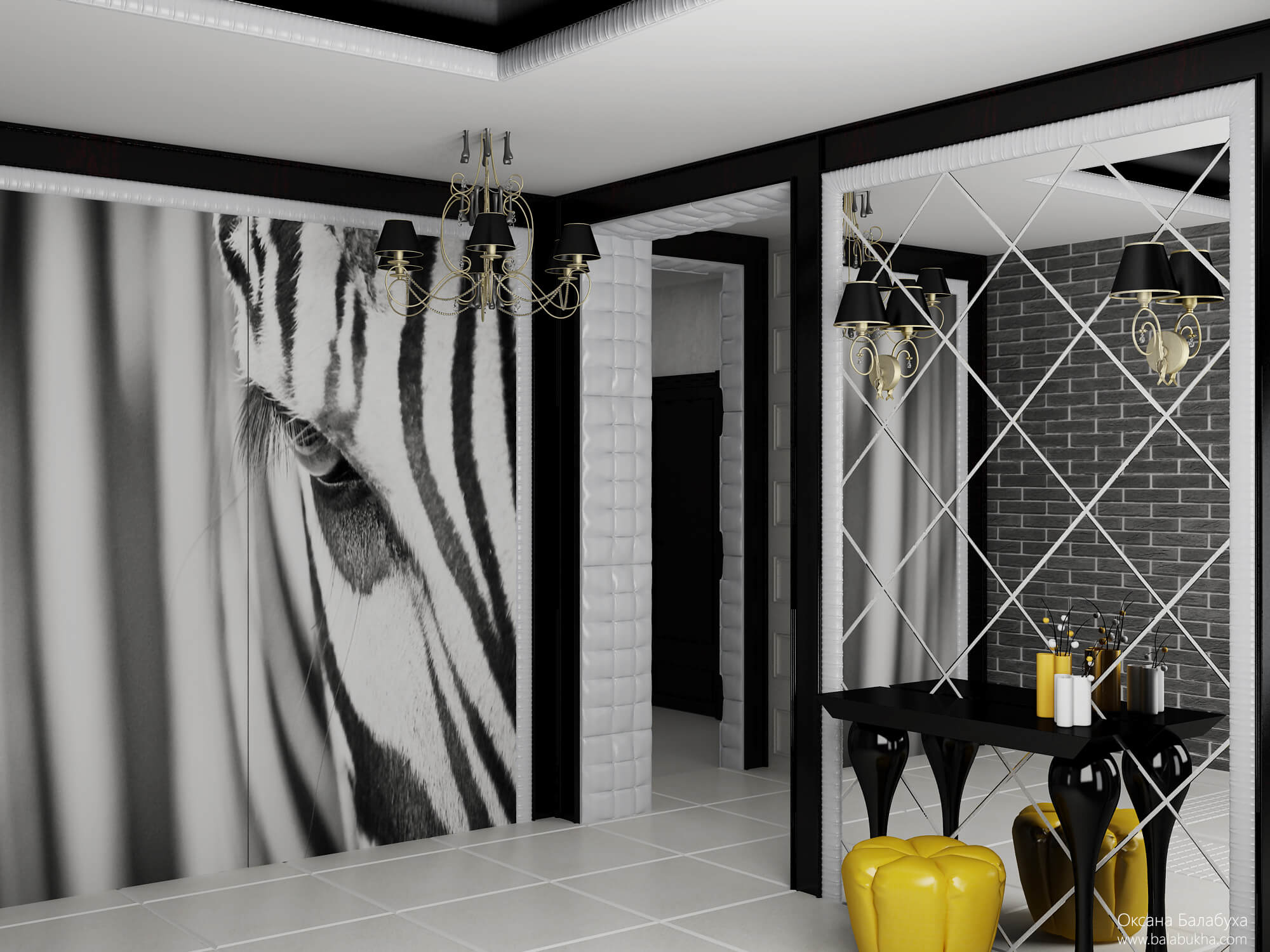 дизайн прихожей в частном доме с лестницей
