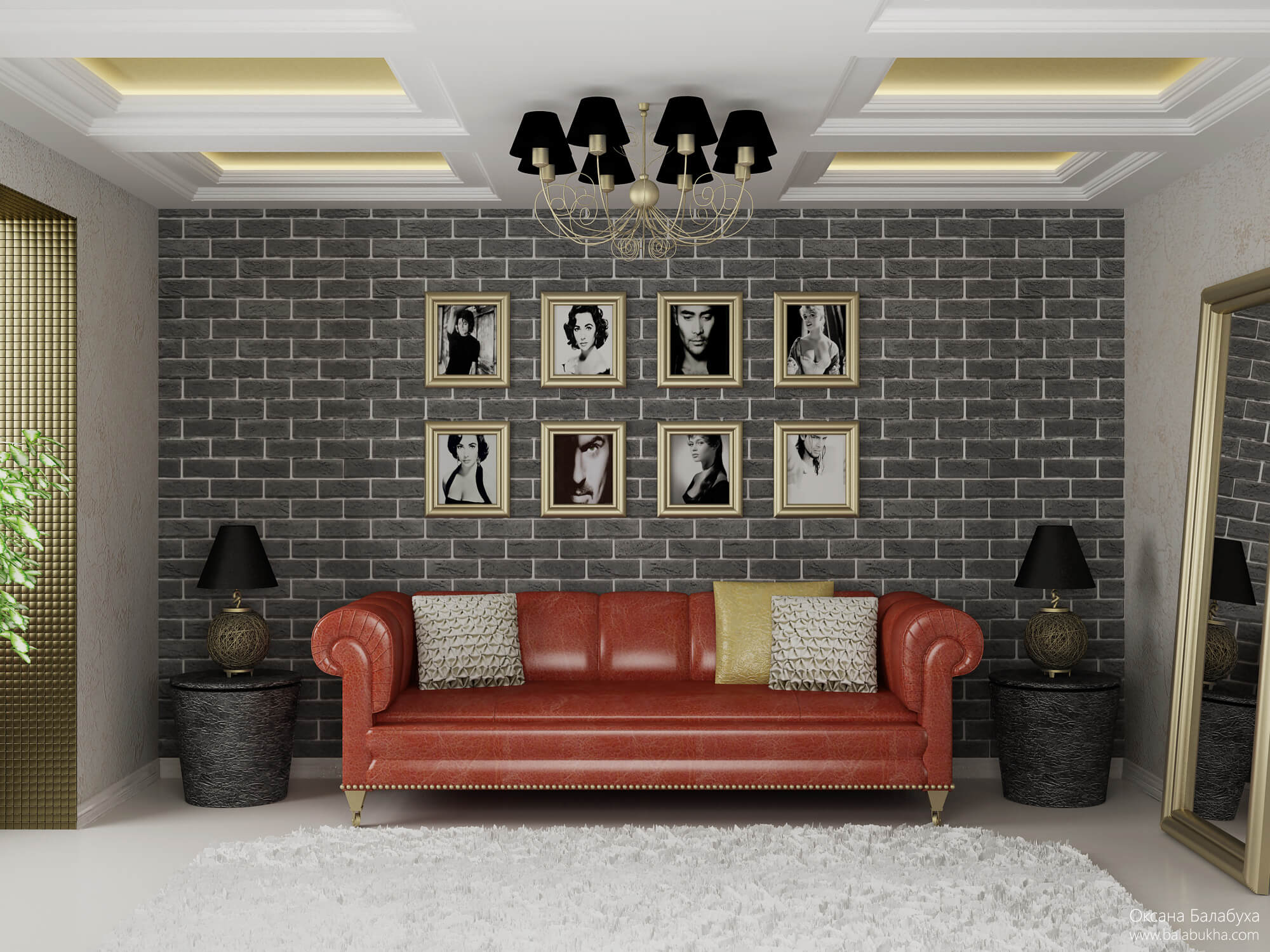 дизайн комнаты с нишей в однокомнатной квартире