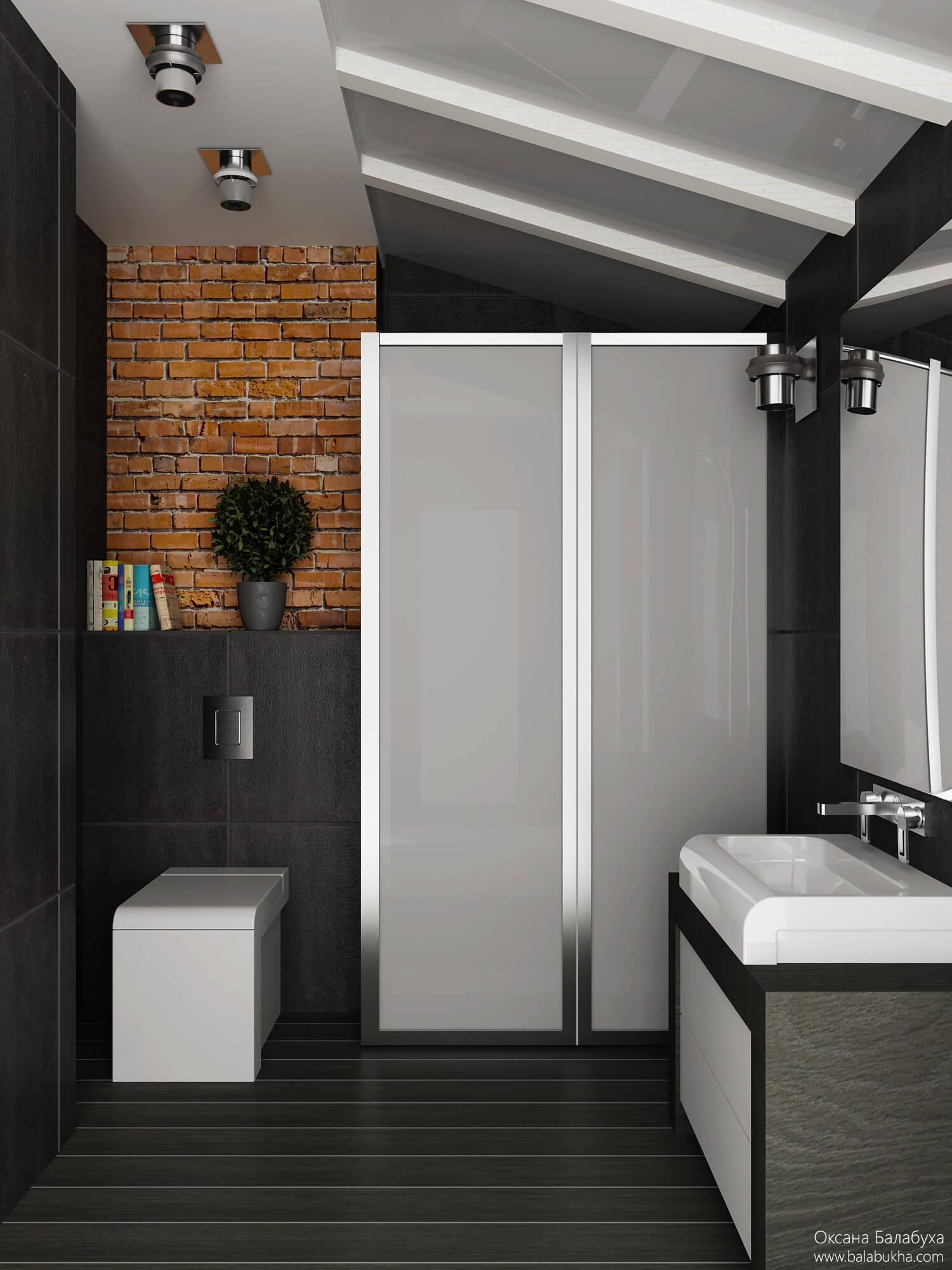 современный дизайн туалетной комнаты