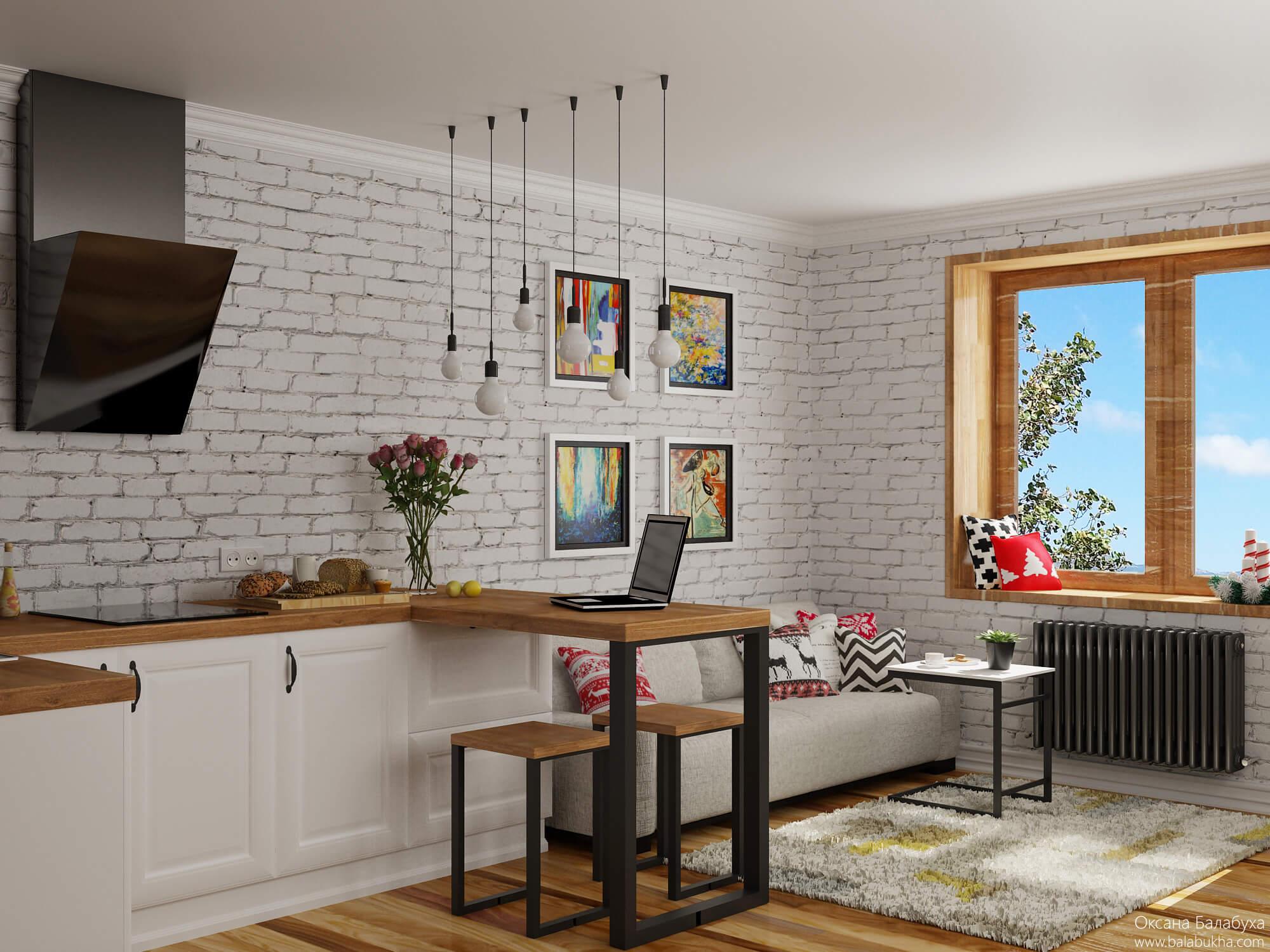 дизайн гостиной с кухней 15 метров
