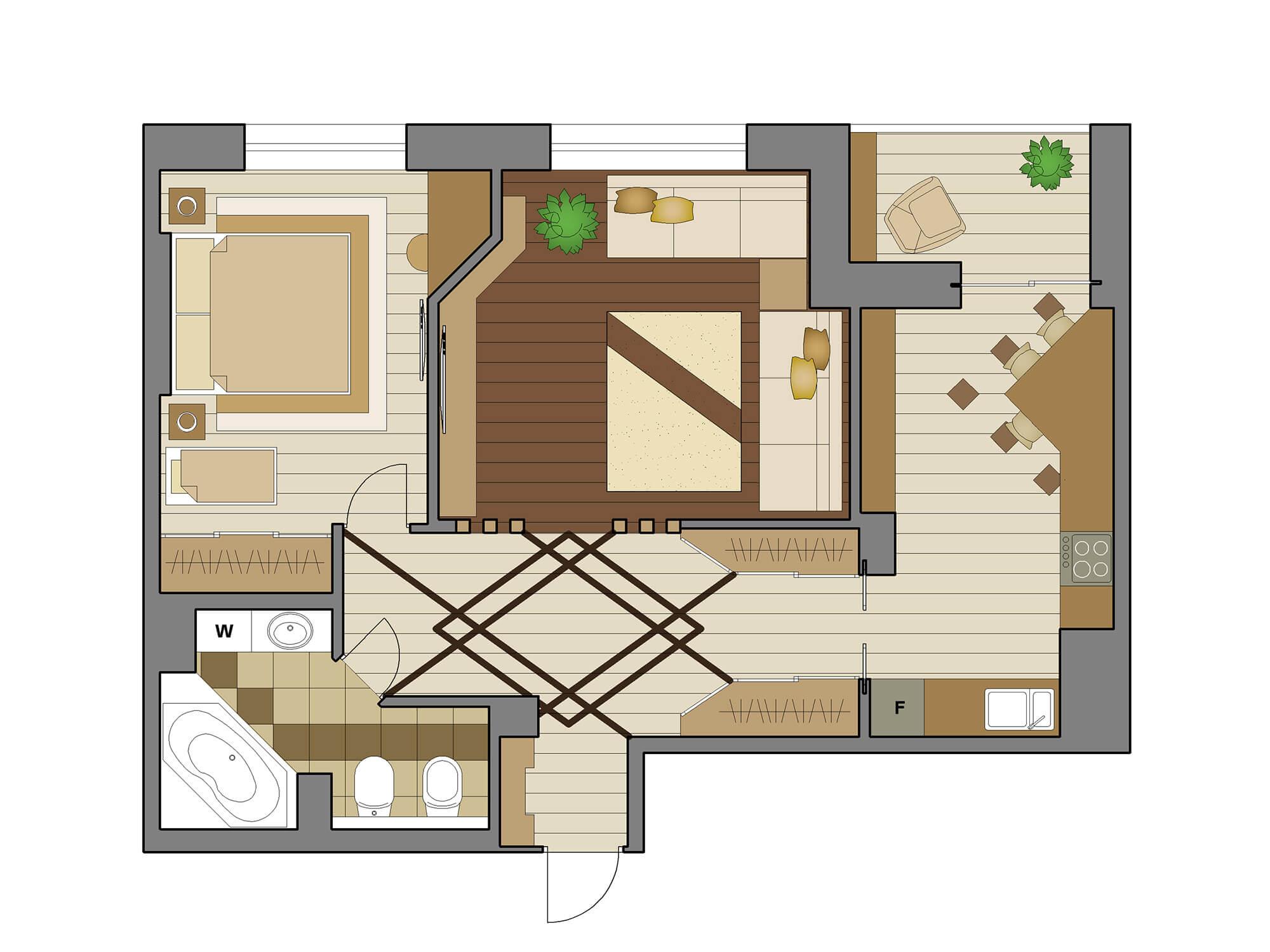 дизайн 3-х комнатной квартиры с детьми